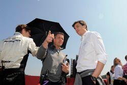 Ralf Schumacher and Toto Wolff, Mercedes Motorsport Director