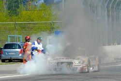 Adrien Tambay, Audi Sport Team Abt Audi RS 5 DTM, em chamas