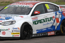 Jason Plato, MG KX Momentum Racing heeft een lekke band