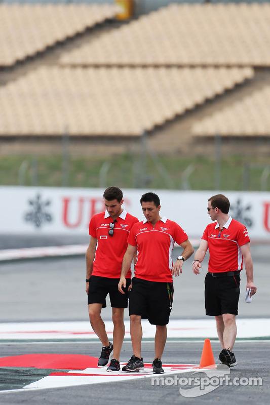 Jules Bianchi, Marussia F1 Team loopt op het circuit