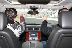 Michael Andretti e Kurt Busch na pista
