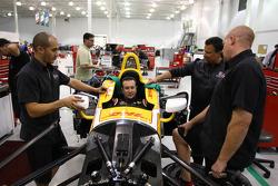 Kurt Busch bereidt zich voor op een test met de Andretti Autosport IndyCar