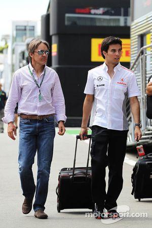 Sergio Pérez, McLaren con Adrián Fernández (MEX)