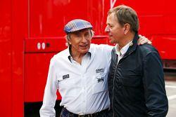 Мартин Брандл и Джеки Стюарт. ГП Испании, Вторая пятничная тренировка.