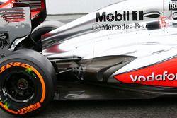 Sergio Pérez, McLaren detalle de escape