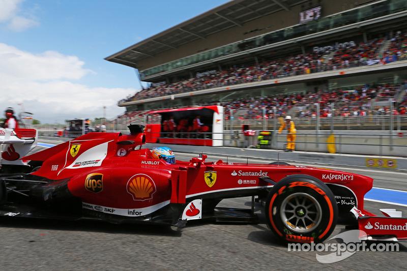 Fernando Alonso, Ferrari deixa os boxes