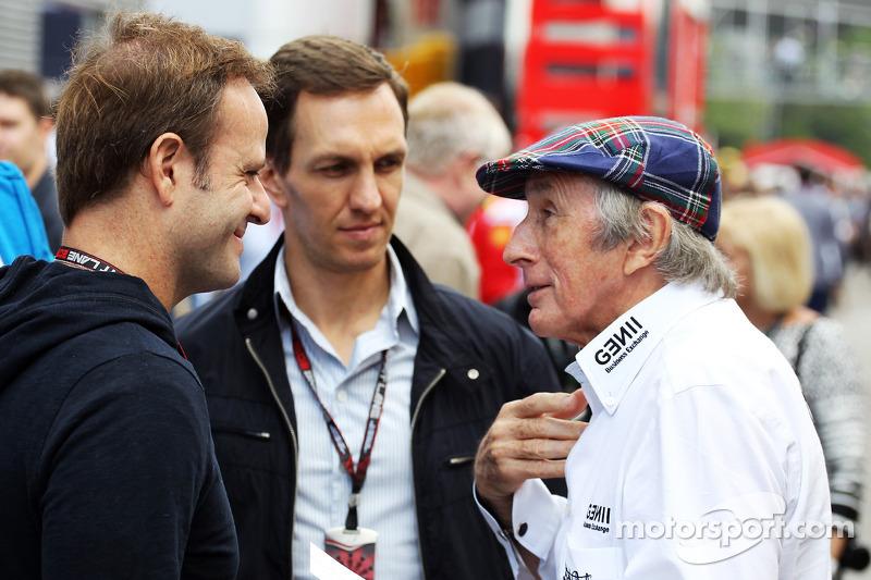 Rubens Barrichello con Luciano Burti