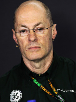 Mark Smith, Director Técnico de Caterham F1 Team, en la Conferencia de Prensa de la FIA.