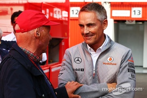 Martin Whitmarsh, McLaren Chief Executive Officer with Niki Lauda, Mercedes Non-Executive Chairman