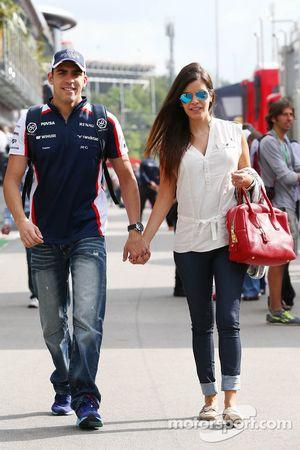 Pastor Maldonado, Williams, et sa femme Gabriele Tarkany