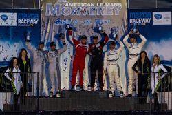 GTC pódio dos vencedores da classe Henrique Cisneros and Nick Tandy, segunda posição Andy Lally and