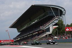 Valtteri Bottas, Williams FW35 et Giedo van der Garde, Caterham CT03