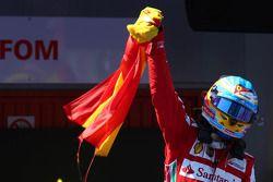 Le vainqueur Fernando Alonso, Ferrari F138
