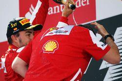 Fernando Alonso et Stefano Domenicali, Ferrari