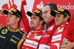 Fernando Alonso, Ferrari, Stefano Domenicali, Ferrari et Felipe Massa, Ferrari