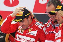Fernando Alonso, Ferrari ; Stefano Domenicali, Ferrari ; Felipe Massa, Ferrari