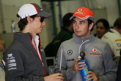 Esteban Gutiérrez, Sauber y Sergio Pérez, McLaren
