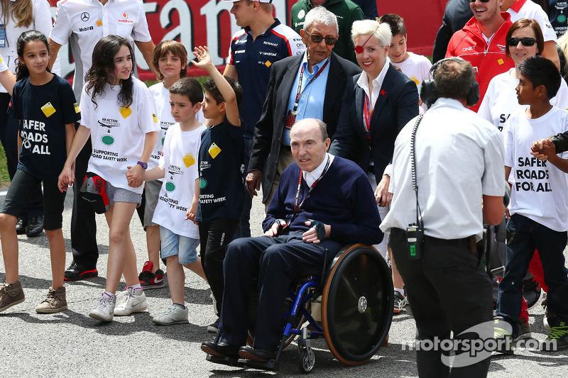 Mai 2013: 10 Monate nach dem Unfall ist de Villota als Gast in Barcelona