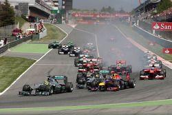 Start of the race, Nico Rosberg, Mercedes GP