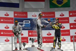 Race winner Stefano Coletti, second place Robin Frijns, third place Felipe Nasr