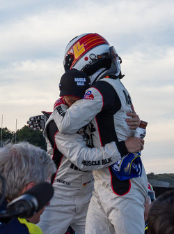 Overall winners Lucas Luhr and Klaus Graf celebrate after winning