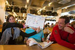 Cyndie Allemann, Sven Hannawald and Thorsten Drewes share a laugh