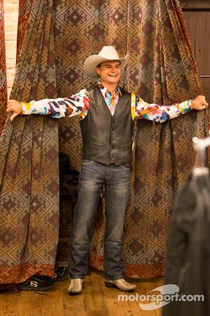 Tim Slade probeert de Texas style