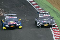 Jamie Green, Audi Sport Team Abt Sportsline Audi RS 5 DTM y Joey Hand, BMW Team RBM BMW M3 DTM