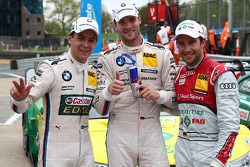 Pole position for Martin Tomczyk, BMW Team RMG, BMW M3 DTM, 2nd for Mike Rockenfeller, Audi Sport Te