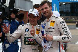 Mike Rockenfeller, Audi Sport Team Phoenix, Audi RS 5 DTM. and Martin Tomczyk, BMW Team RMG, BMW M3