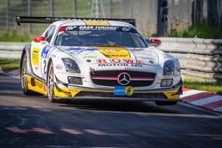 #21 Rowe Racing Mercedes-Benz SLS AMG GT3 (SP9): Marko Hartung, Kenneth Heyer, Christian Hohenadel, Roland Rehfeld