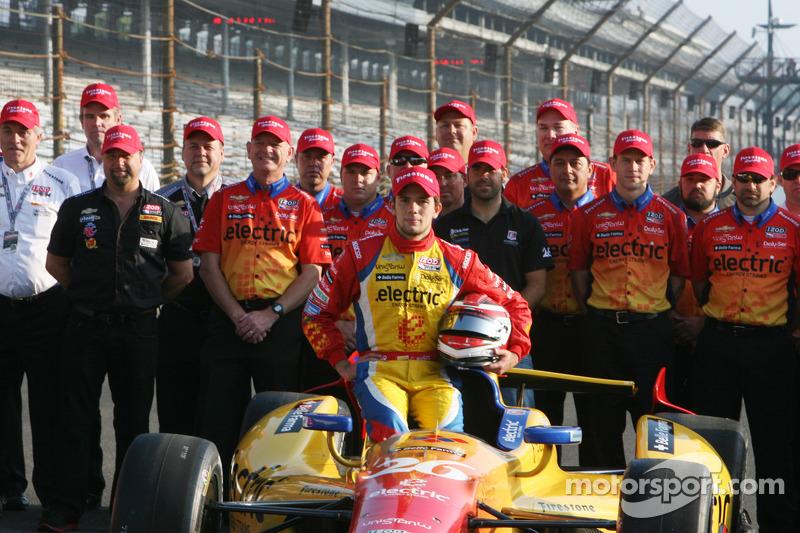 Second place qualifier Carlos Munoz, Andretti Autosport Chevrolet