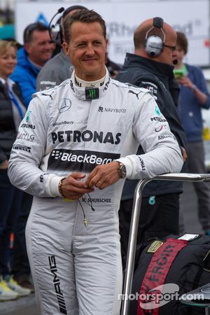 Michael Schumacher at the Formula One exhibition lap