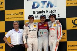Podium from left: Bruno Spengler, Mike Rockenfeller and Robert Wickens