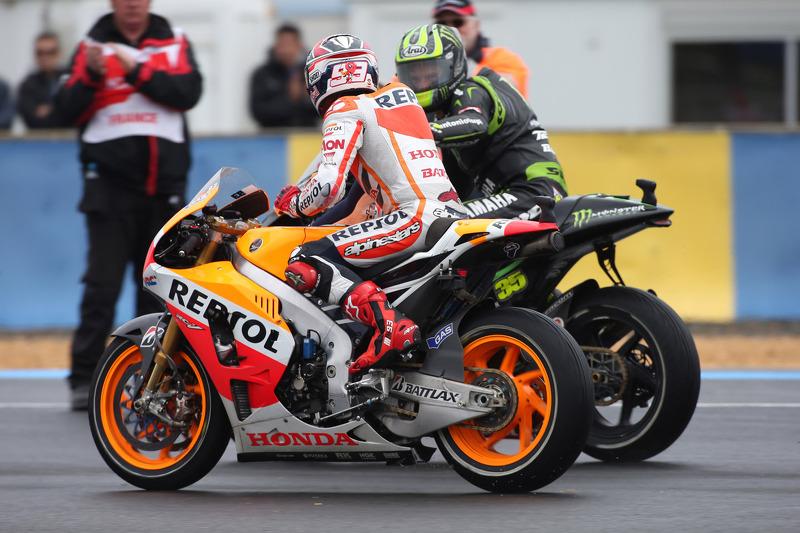 Marc Márquez, Repsol Honda Team y Cal Crutchlow, Monster Yamaha Tech 3