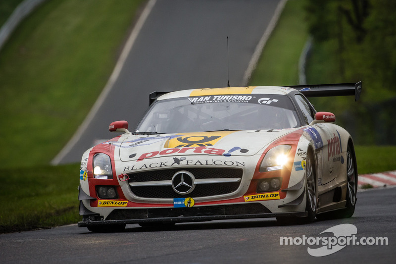 #9 Black Falcon, Mercedes-Benz SLS AMG GT3: Bernd Schneider, Jeroen Bleekemolen, Sean Edwards, Nicki
