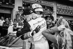 Race winners Sean Edwards and Nicki Thiim celebrate