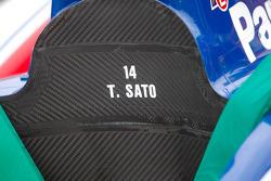 La voiture de Takuma Sato, A.J. Foyt Enterprises Honda
