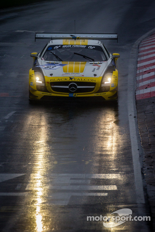 #63 Black Falcon Mercedes-Benz SLS AMG GT3 (SP9): Vimal Mehta, Khaled Al Qubaisi, Daniel Keilwitz, Christian Bracke