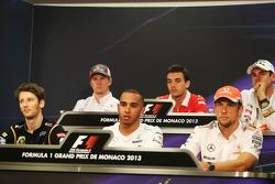 De FIA Persconferentie, Nico Hulkenberg, Sauber; Jules Bianchi, Marussia F1 Team; Adrian Sutil, Saha