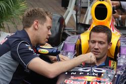 Sebastian Vettel, Red Bull Racing met Sébastien Ogier, Rally-coureur