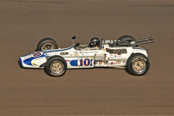 Rob Dyson in a vintage Indy racer