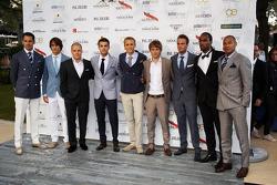 (Da esquerda para direita):Adrian Sutil, Sahara Force India F1; Esteban Gutierrez, Sauber; Valtteri Bottas, Williams; Jules Bianchi, Marussia F1 Team; Max Chilton, Marussia F1 Team; Charles Pic, Caterham; Giedo van der Garde, Caterham F1 Team, no Amber Lo