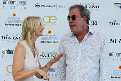 Jeremy Clarkson, with Sonia Irvine, at the Amber Lounge Fashion Show