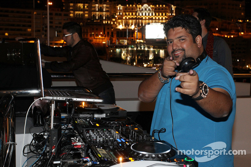 A DJ at the Signature F1 Monaco Party