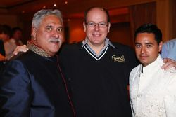 (L to R): Dr. Vijay Mallya, Sahara Force India F1 Team Owner with HSH Prince Albert of Monaco, at th