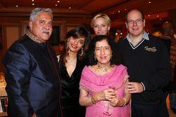 Dr. Vijay Mallya, Sahara Force India F1 Team Owner, with Princess Charlene of Monaco, and HSH Prince