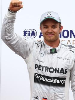 Nico Rosberg, Mercedes AMG F1 W04, Lewis Hamilton, Mercedes AMG F1 et Sebastian Vettel, Red Bull Racing