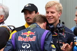 Sebastian Vettel, Red Bull Racing with Heikki Huovinen, the new physio for Sebastian Vettel