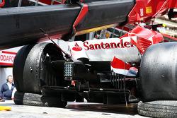 La Ferrari F138 endommagée de Felipe Massa, Ferrari
